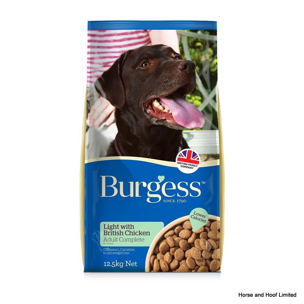 Burgess light adult dog rich in chicken 12 5kg burgess