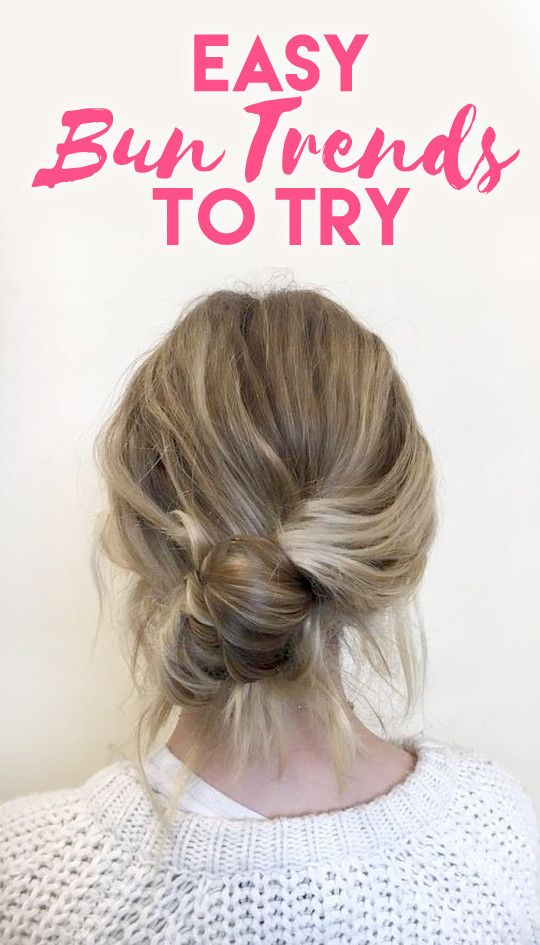 easy hair bun trends