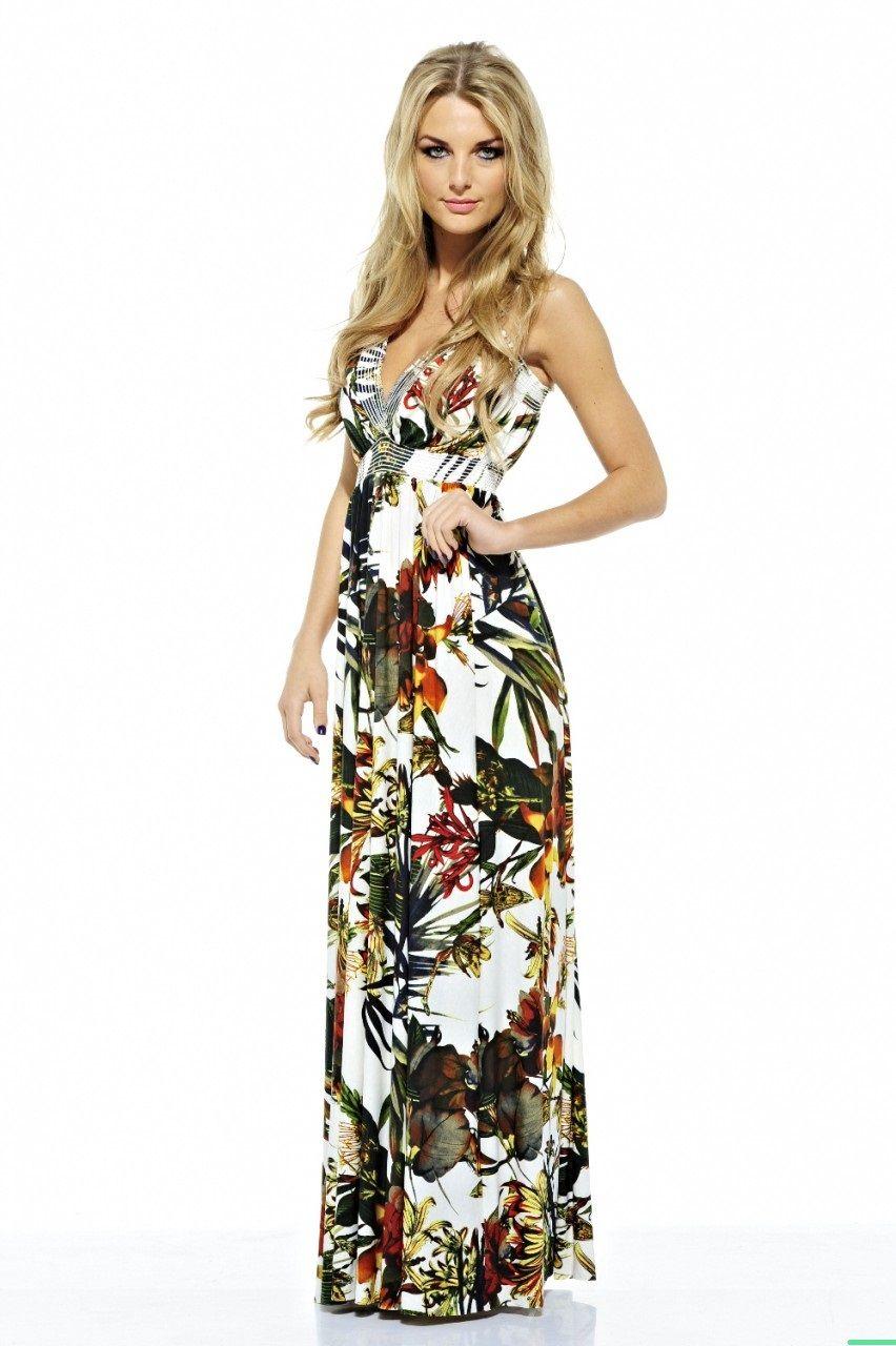 Tropical Rainforest Print Maxi Dress | Spencer\'s Style | Pinterest