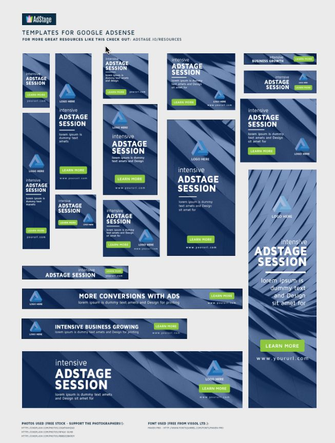 banner ad templates graphic design pinterest display ads ads