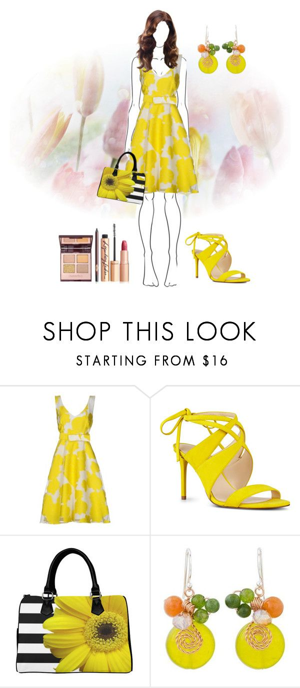 """""""Untitled #4284"""" by empathetic ❤ liked on Polyvore featuring P.A.R.O.S.H., Nine West and NOVICA"""