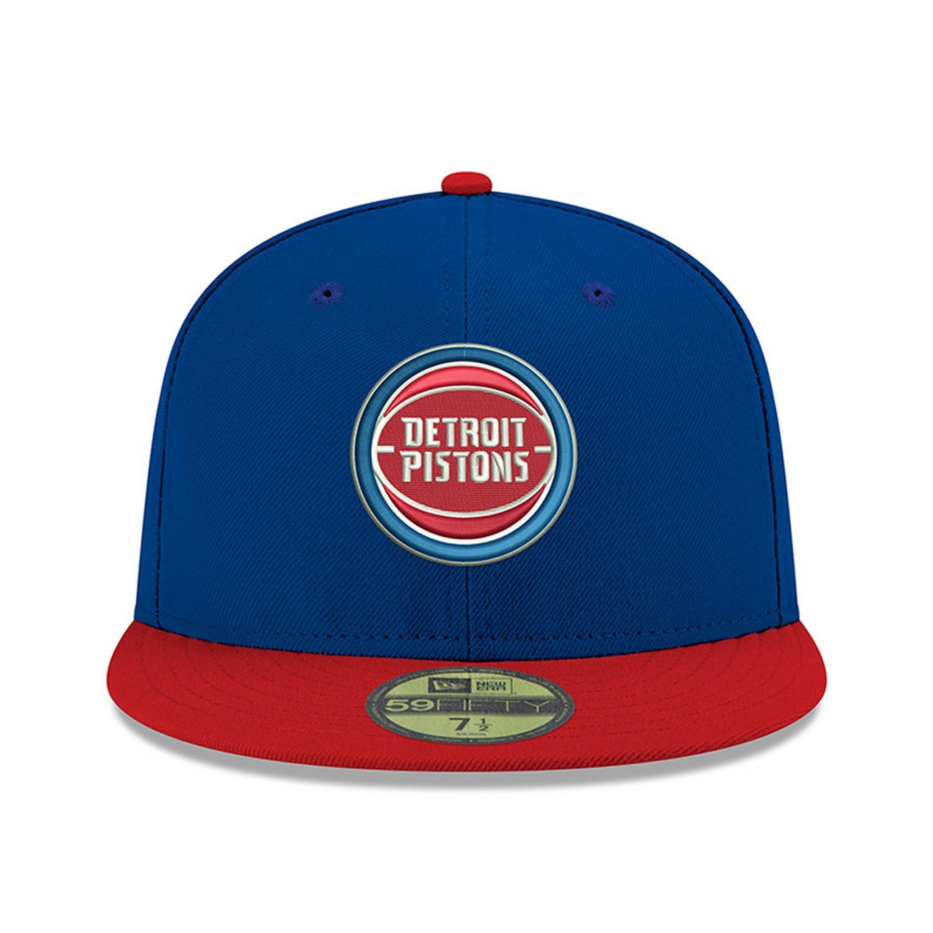 e3be46148 NFL Detroit Pistons Blue Official Team Color 2Tone 59FIFTY Fitted ...