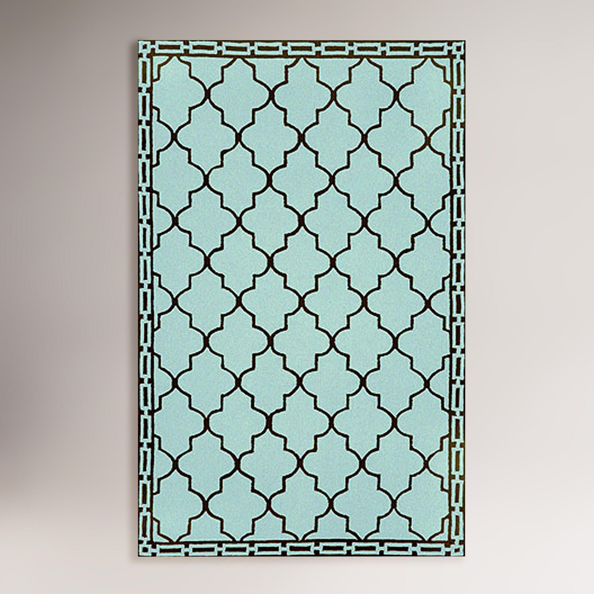 Aqua floor tile indoor outdoor rug indoor outdoor rugs outdoor aqua floor tile indoor outdoor rug doublecrazyfo Gallery