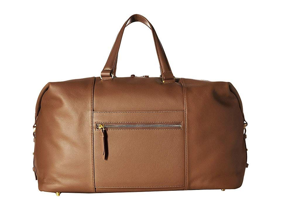 Plume Elegance Leather Weekend Bag Bags