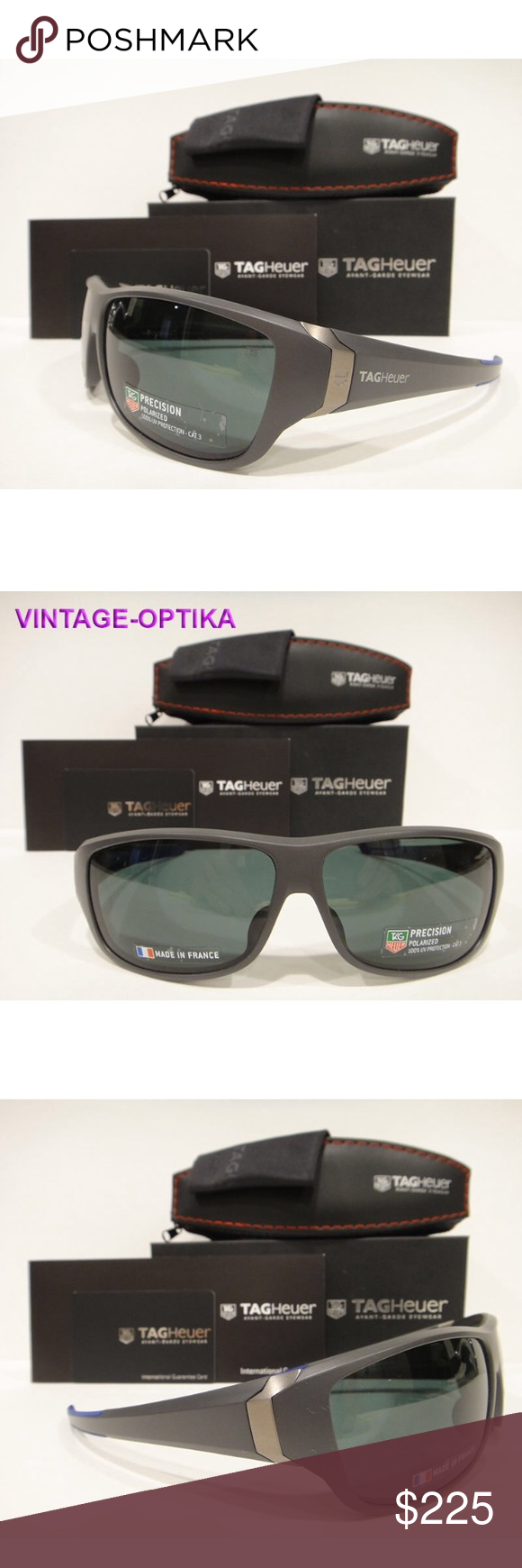 eb14297985 Tag Heuer 9225 Racer 2 Sunglasses Cobalt Polarized These are 100% Genuine