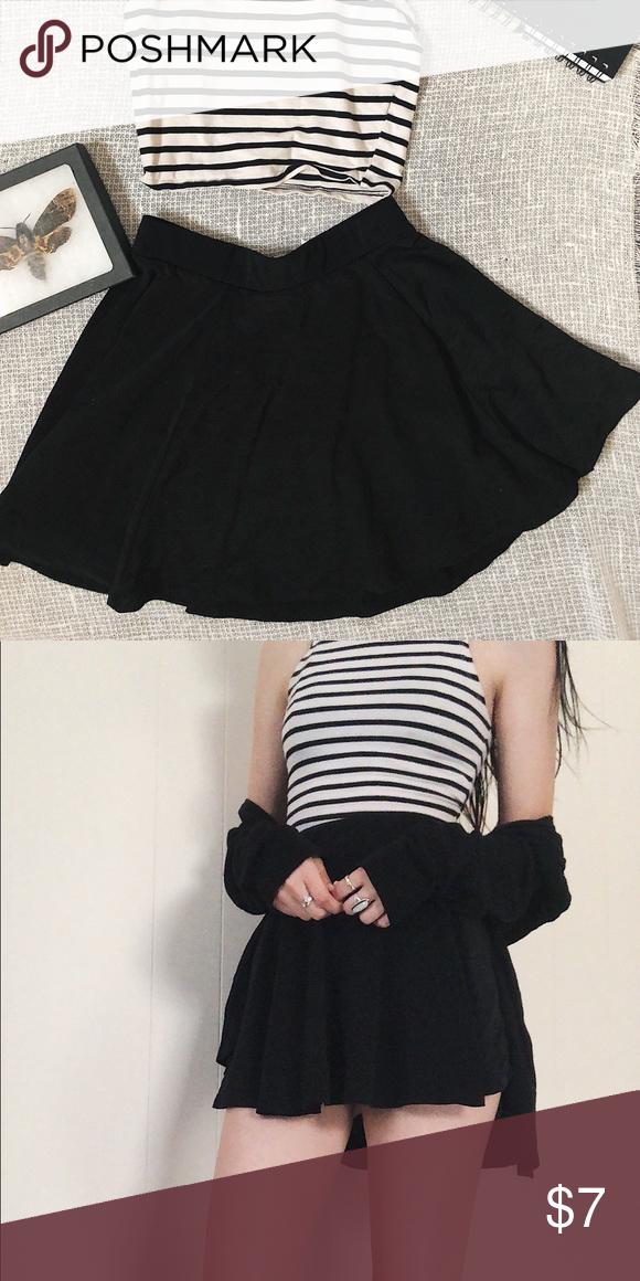 acce05fc5 ♧️H&M Black High Waisted Chiffon Skirt Super comfy, versatile mini skirt.  Flowy and