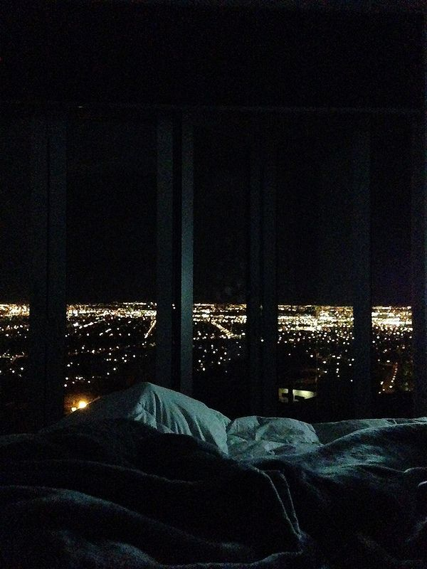New Zealand City Lights From My Bed