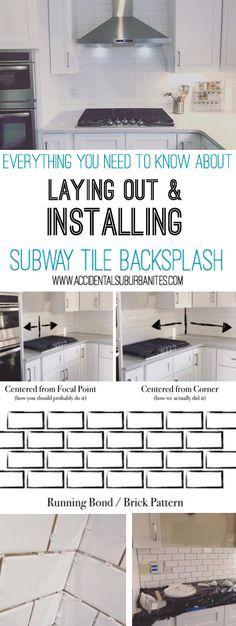 How To Install A Subway Tile Kitchen Backsplash How To Plan Your Diy Subway Tile Pattern La Subway Tile Backsplash Kitchen Subway Tile Kitchen Tile Backsplash