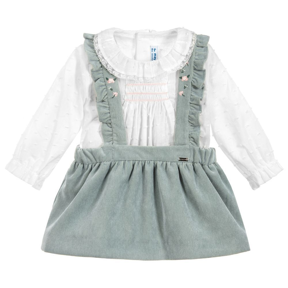 f219695e928 Girls 2 Piece Cotton Skirt Set for Girl by Mayoral. Discover more beautiful  designer Outfit Sets for kids online at Childrensalon.co.