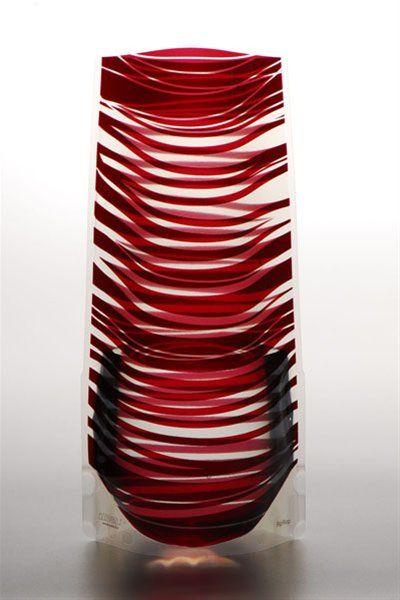 Vazu Expandable Portable Decorative Holiday Red Flower Vase