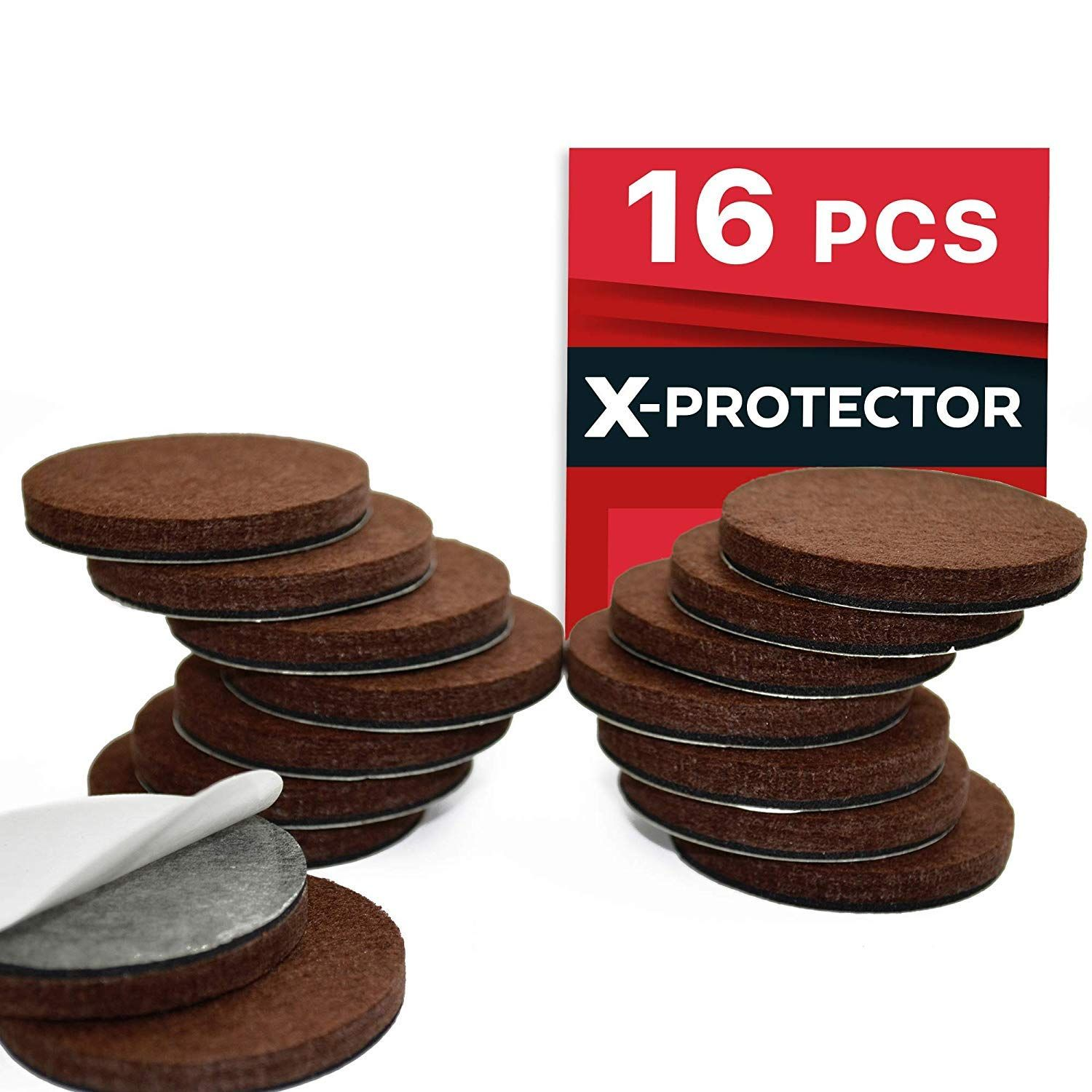 X Protector Premium 16 Thick 1 4a Heavy Duty Felt Furniture Pads