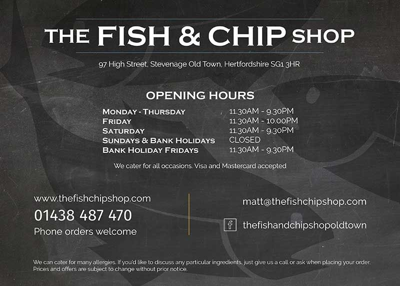 The Fish And Chip Shop Stevenage Side 1 Double Sided A4 Menu Design By Design Freak Food Chips Fish Bu Fish And Chip Shop Welcome Design Fish And Chips