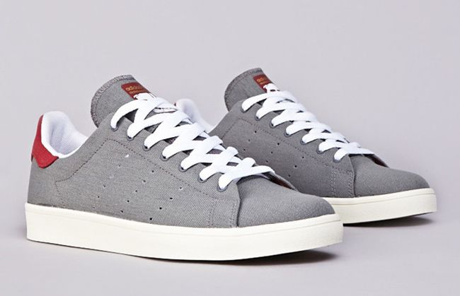 "reputable site 3e1cf d115e adidas Skateboarding Stan Smith Vulc ""Grey   Burgundy"""