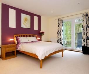 Purple Feature Wall Bedrooms Google Search