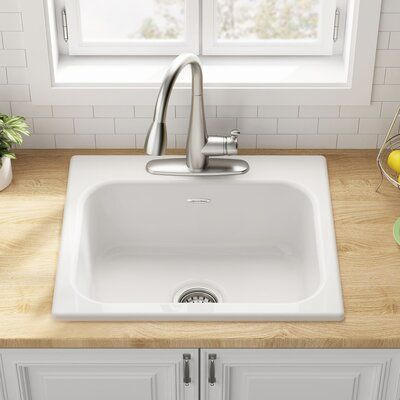 American Standard Quince 25 L X 22 W Drop In Kitchen Sink In