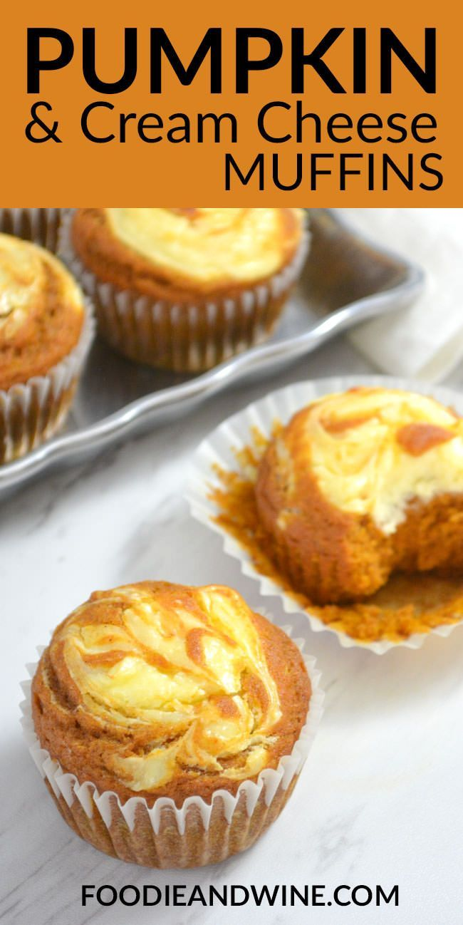 Easy Pumpkin Cream Cheese Muffins - ready in just 30 minutes. If you love fall recipes this muffin recipe is perfect! Moist and flavorful! More pumpkin recipes at | FoodieandWine.com -   24 sweet pumpkin recipes