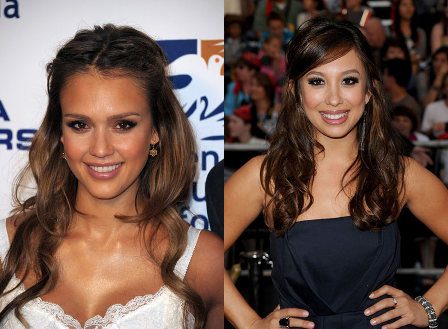 Curly hairstyles of half up half down updos hair celebrity formal