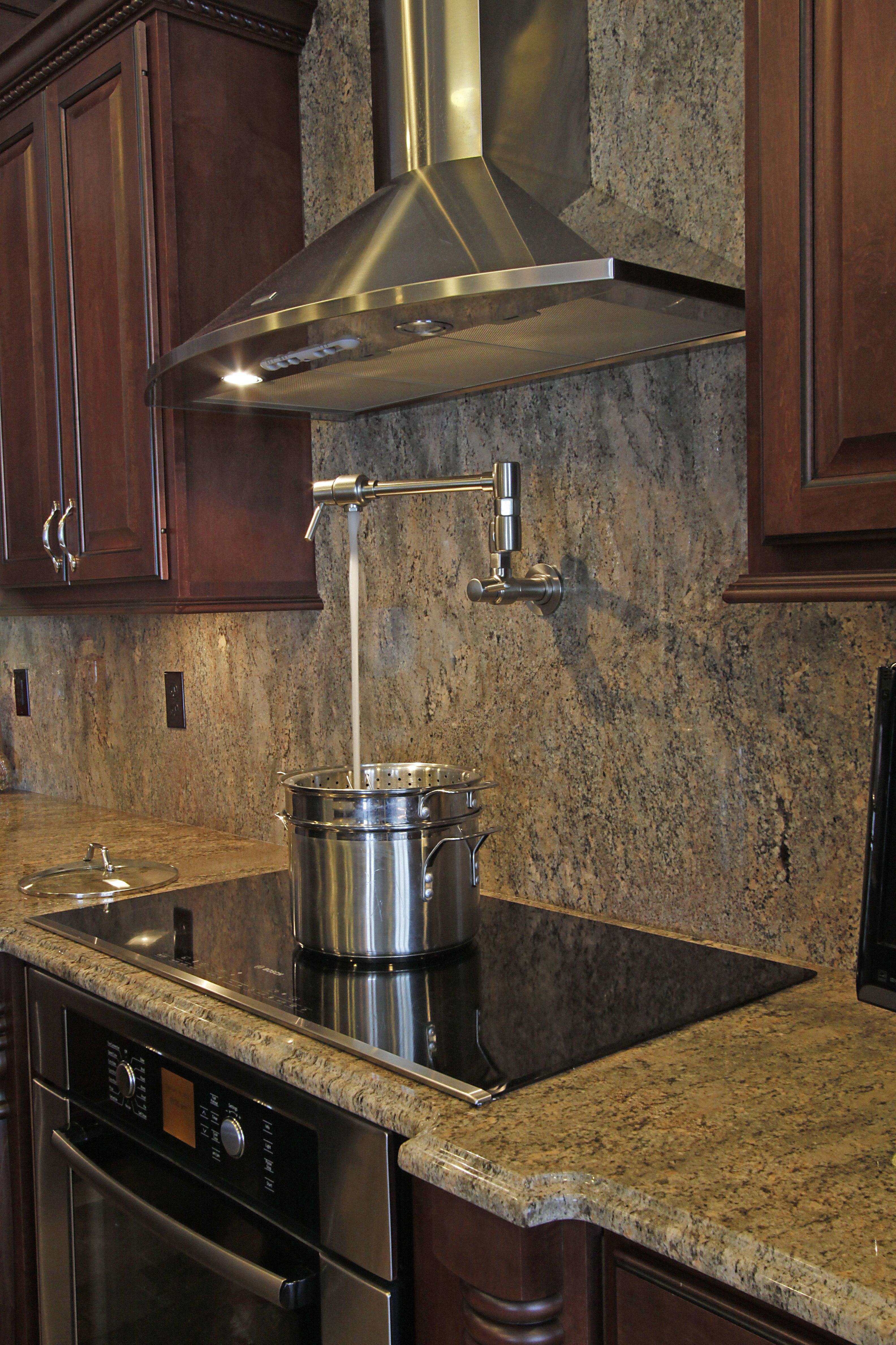 New Electric Stove with Wall Mounted Pot Filler! Never ...