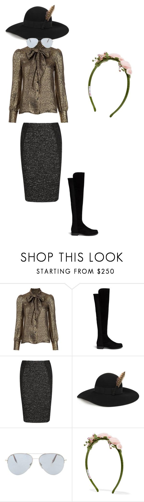 """""""Lets rock The party"""" by ramakumari ❤ liked on Polyvore featuring Yves Saint Laurent, Stuart Weitzman, Donna Karan, Victoria Beckham and RED Valentino"""