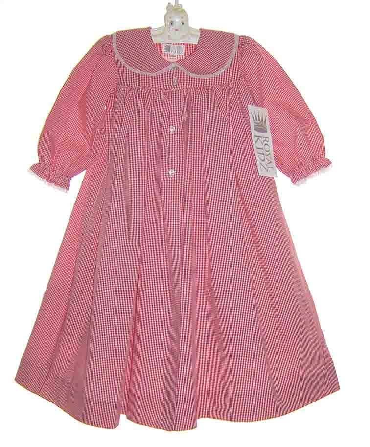 NEW Royal Kidz Red Checked Long Sleeved Gown/Robe $50.00