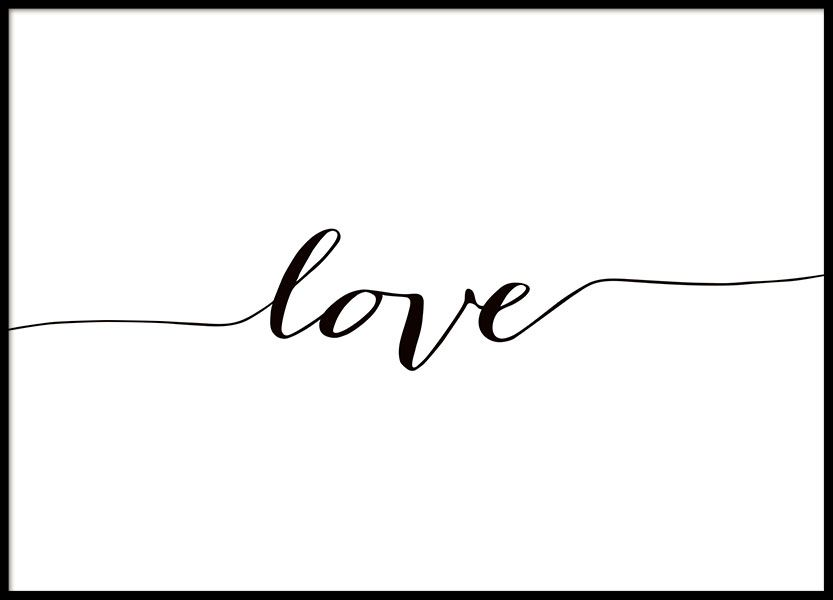 poster in black and white with the text love shop online. Black Bedroom Furniture Sets. Home Design Ideas