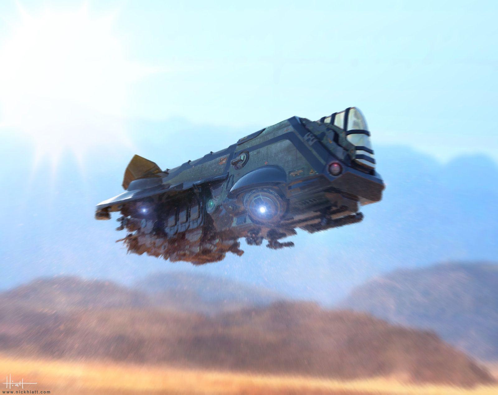 Space Ship Concept, Nick Hiatt on ArtStation at https://www.artstation.com/artwork/space-ship-concept-df4709f2-d823-4d66-916d-292263fa8e3e