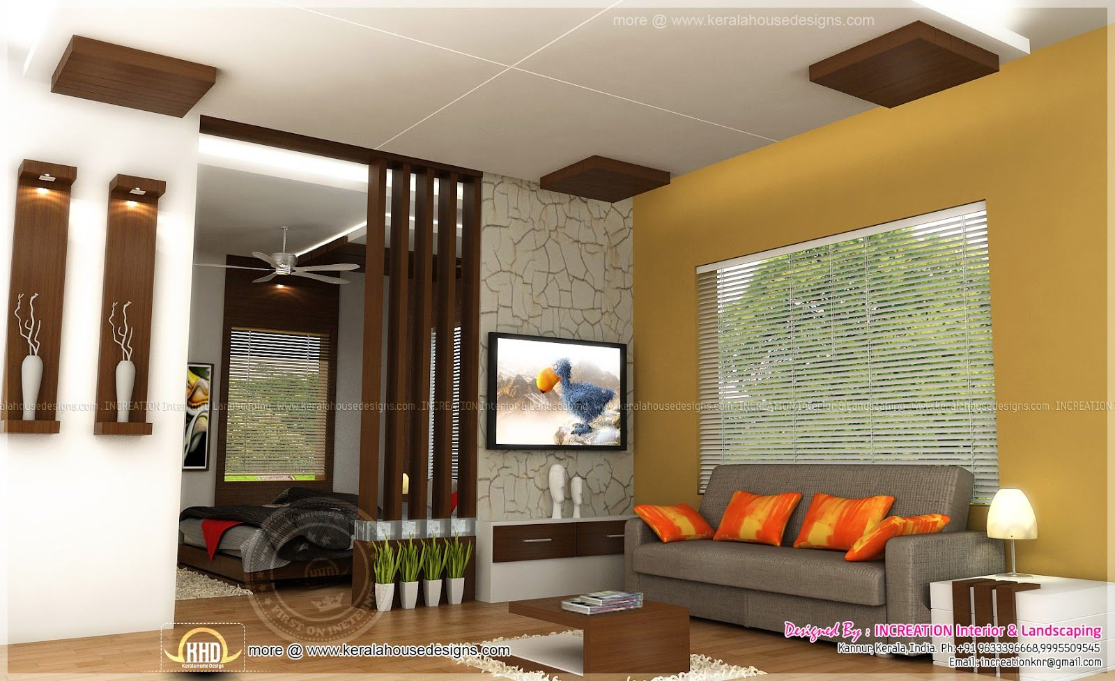 home interior designs in kerala  Living room kerala style, Living