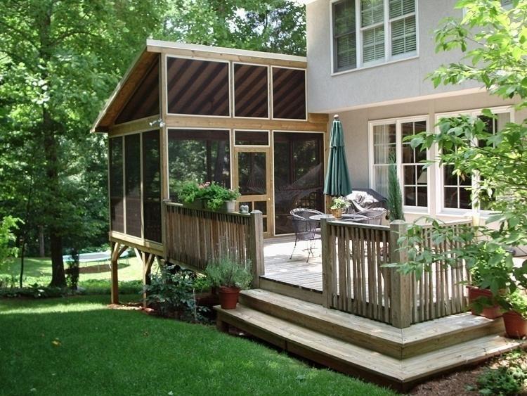 Véranda bois en 35 idées du0027aménagement et décoration Decking