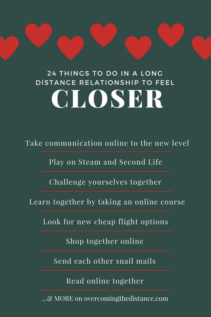Things to do with long distance relationship