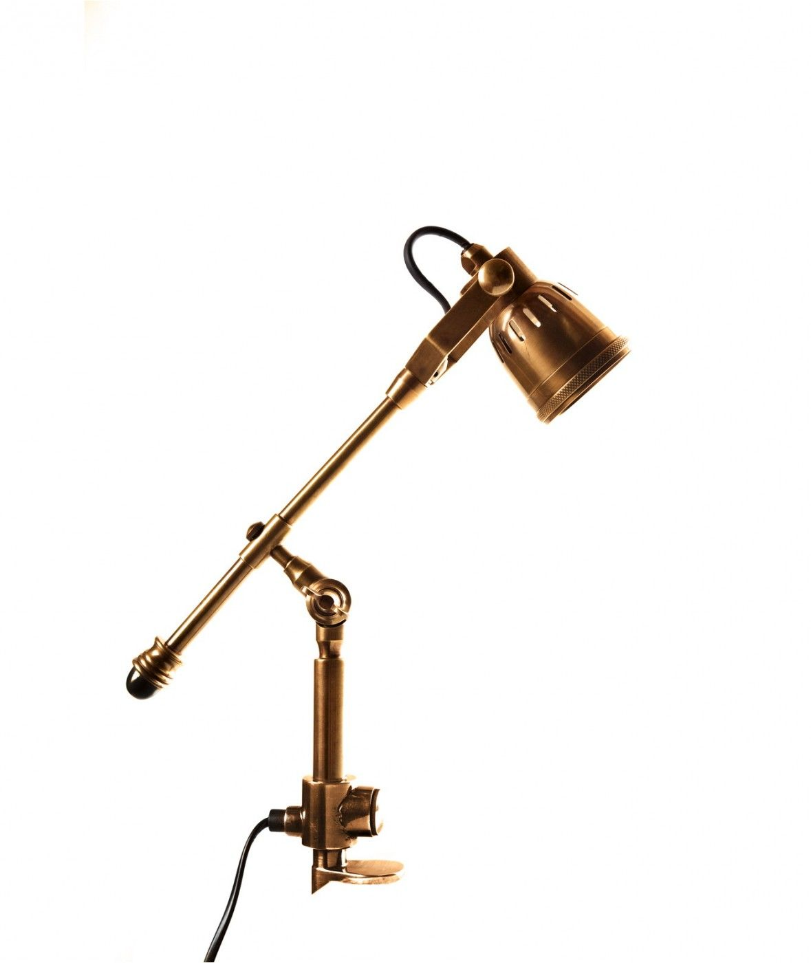 Seattle Clamp Desk Lamp Antique Brass