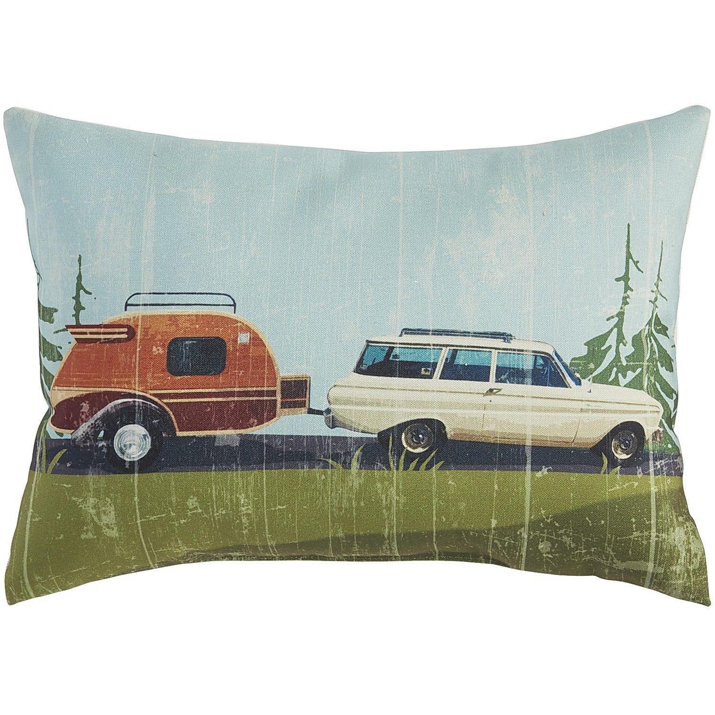 Multi Colored Camper Pillow Outdoor Decor Throw Pillows