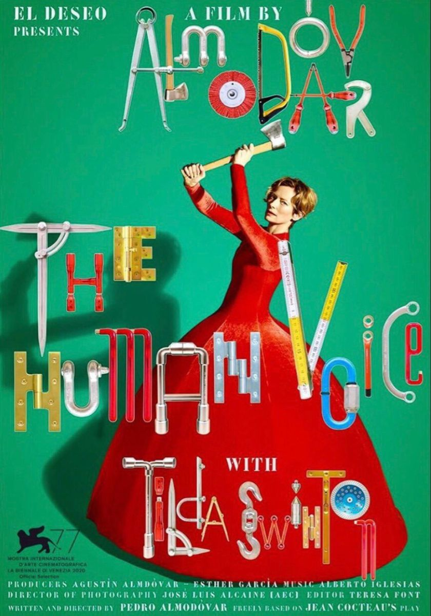 The Human Voice Poster Pedro Almodóvar Best Movie Posters Film