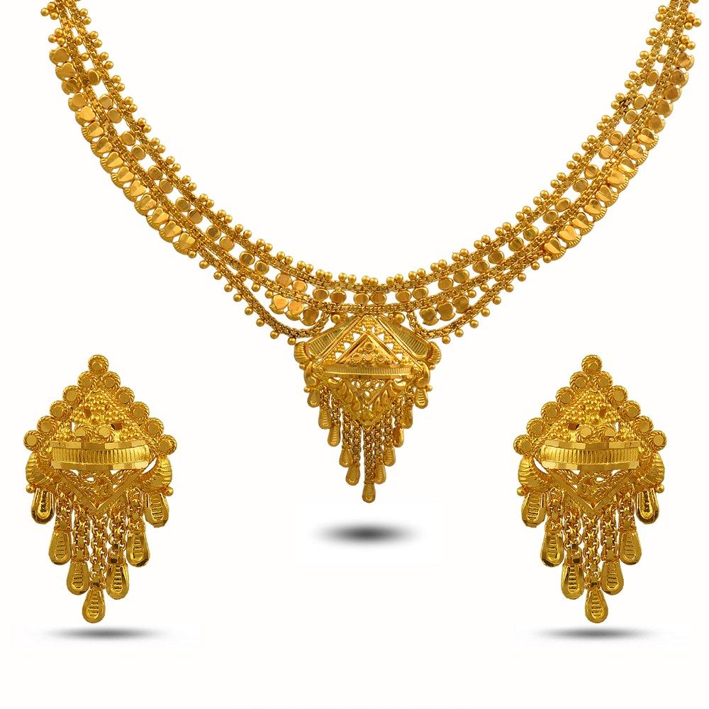 Best Prices On Gold Necklaces & Sets. Buy Ethnic revival Necklace ...