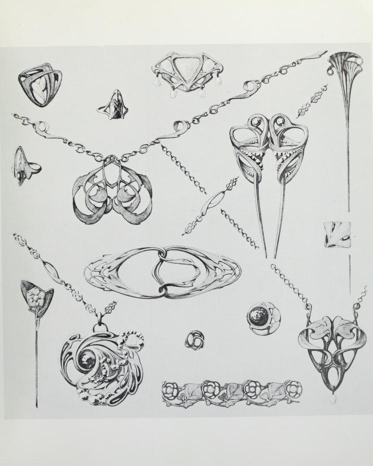 305 authentic Art Nouveau jewelry designs : Dufrène, Maurice, 1876- : Free Download, Borrow, and Streaming