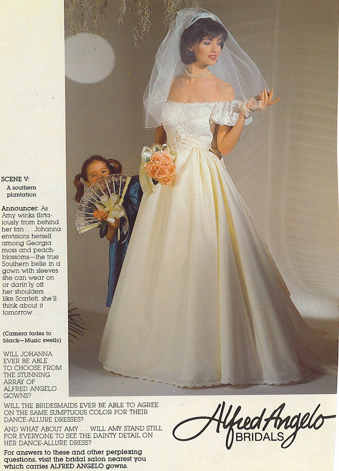 Bride In A 90 S Vintage Wedding Gown From Magazine