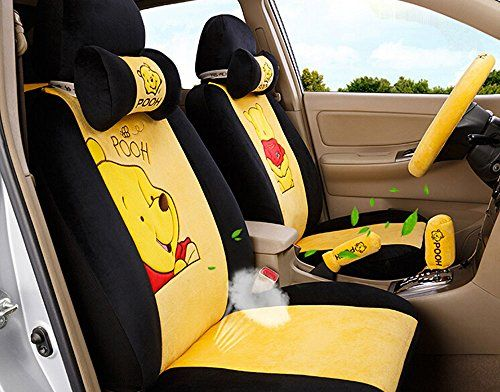 18pc Maimai88 Superior Quality Yellow And Black Seat Covers Front