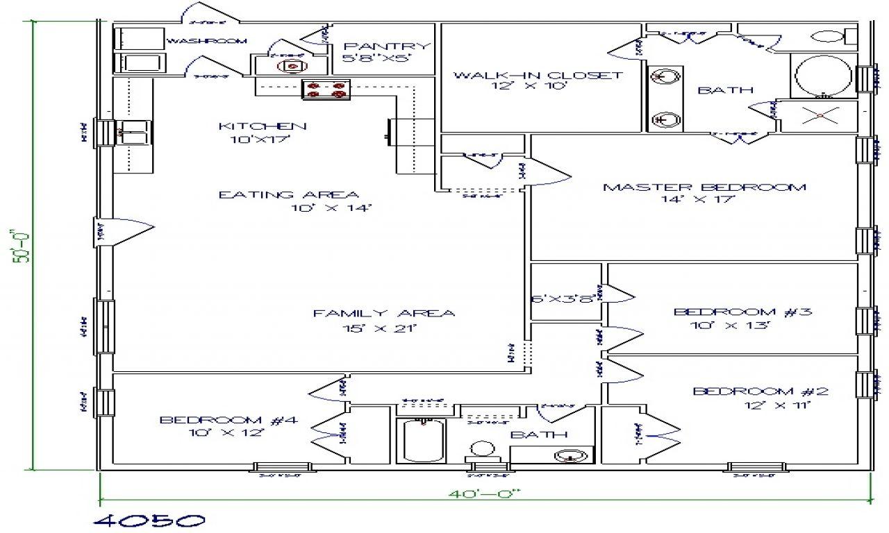 Texas Barndominium Floor Plans 40X50 Metal Building House ...