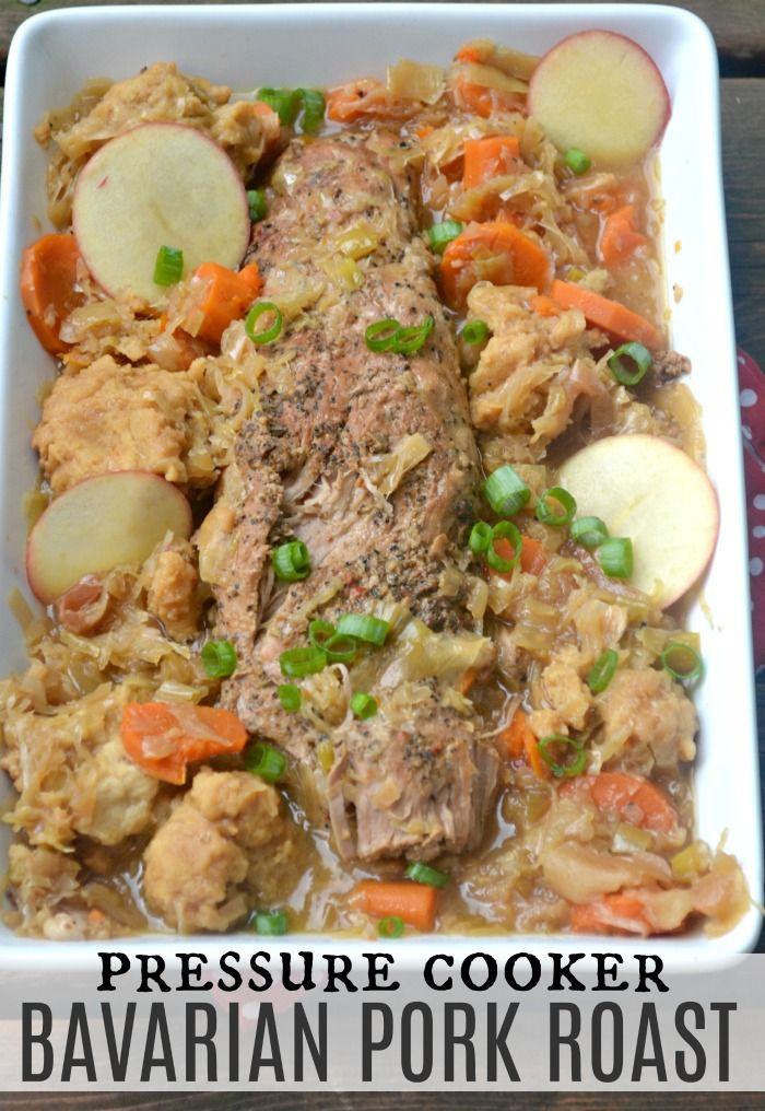 Bavarian Pork Roast with sauerkraut and dumplings | Recipe ...