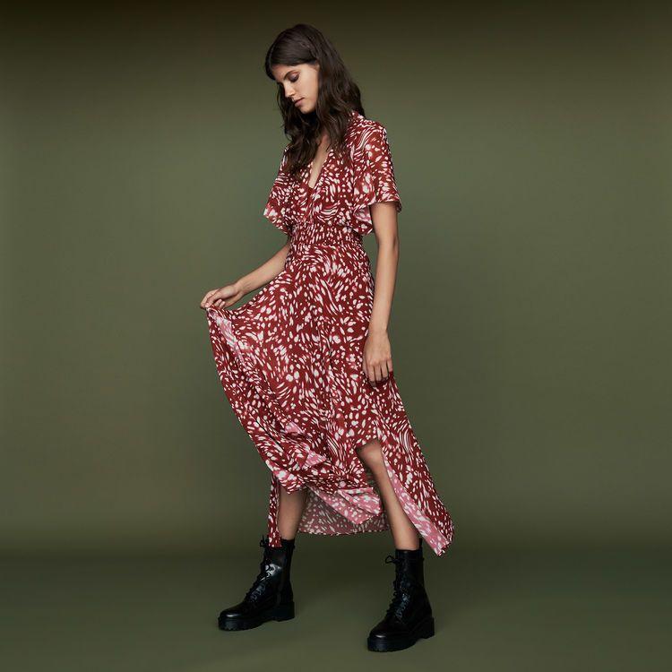 vu robe rouge à pois chez maje