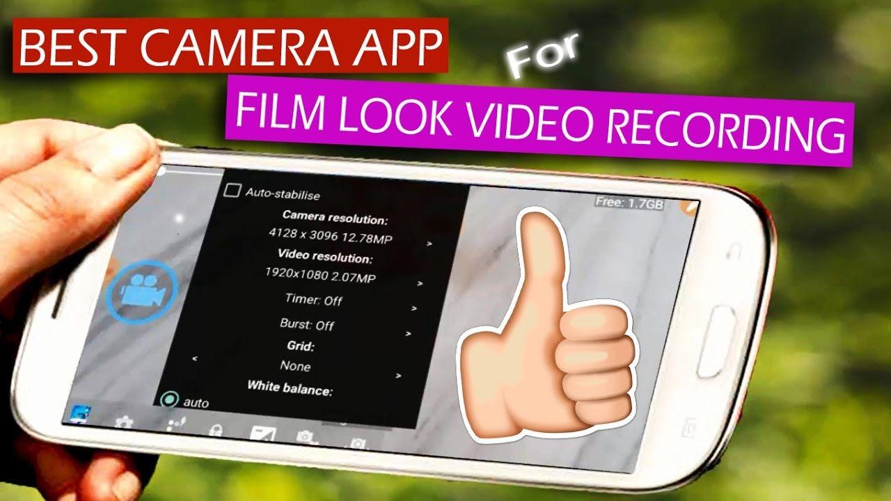 Best camera app for film look video recording best