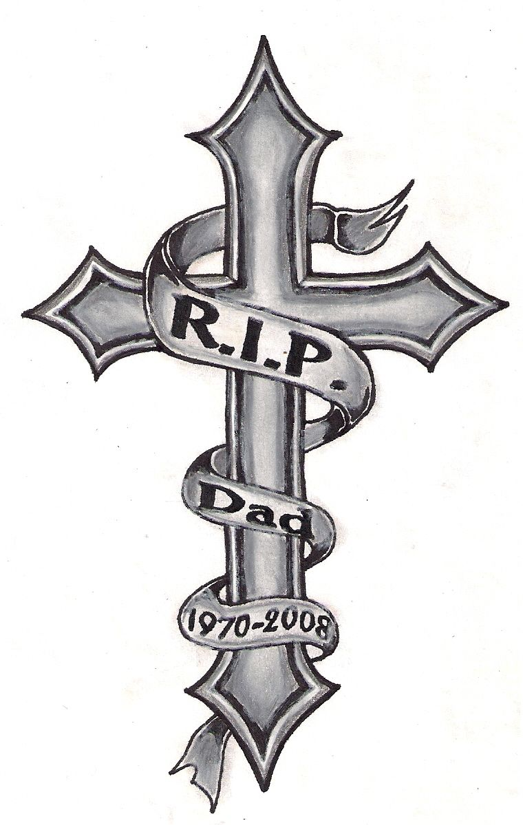 cross tattoo tattoos rip designs meaning dad tatuajes tatto arm tatoo drawings drawing crosses crucifix dibujos kreuz vorlagen awesome tatuaje