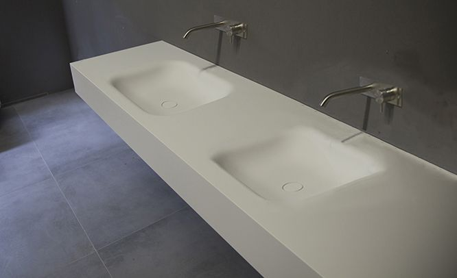 Hi macs voor badkamer bathroom corian solid