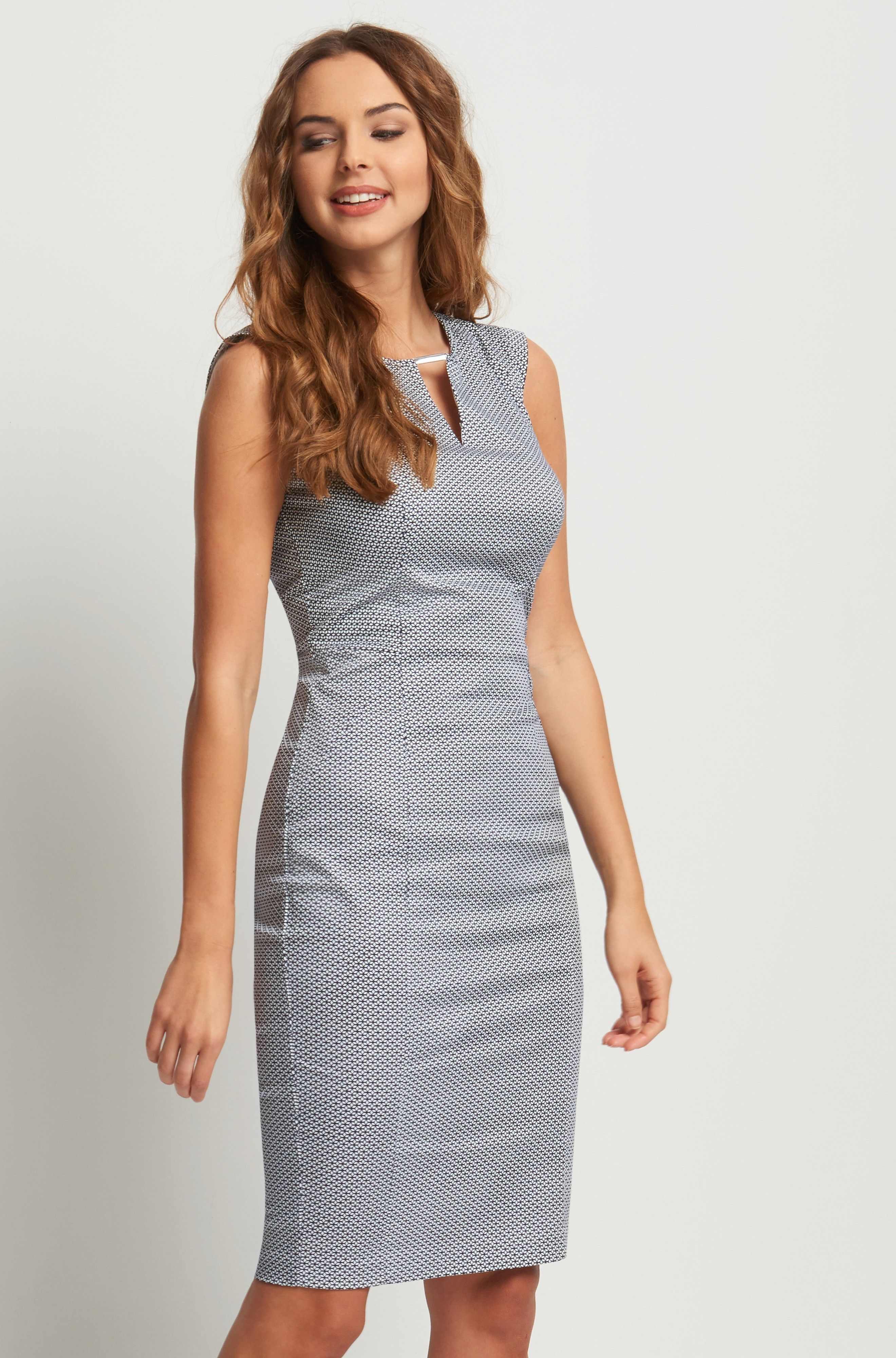 Ołówkowa sukienka w geometryczny wzór  ORSAY (With images