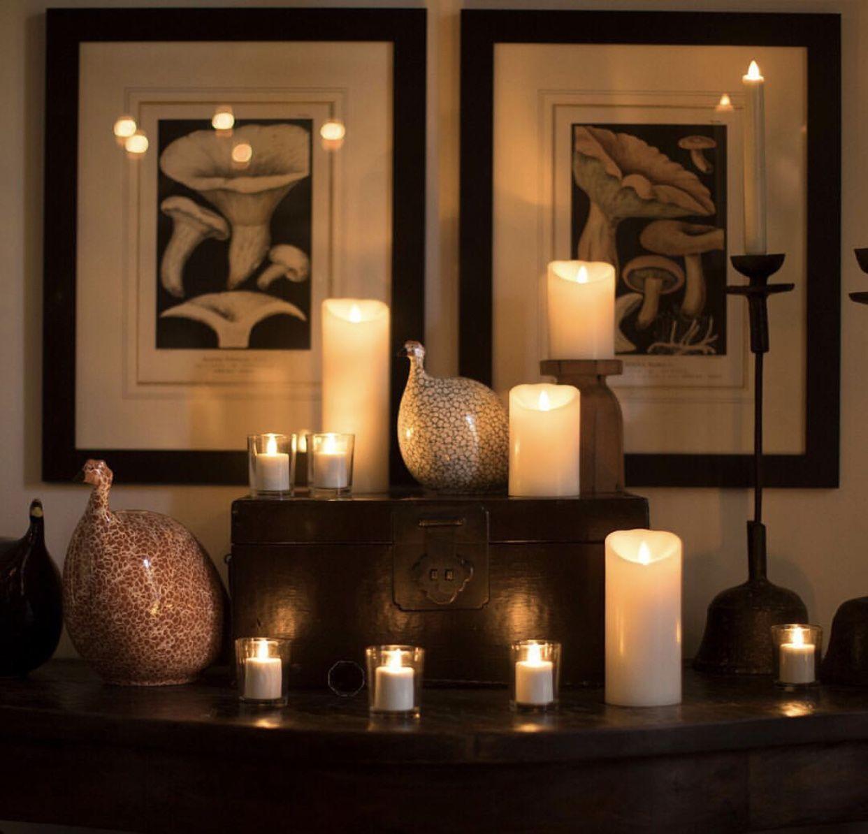 Wood Feature Wallideas: #luminara#decor#homedesign#candle#ambiance