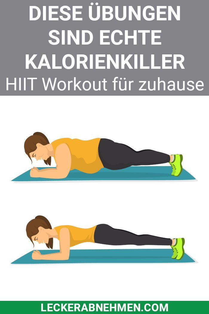HIIT Übungen und Trainingsplan - Training für zuhause - Gesundheit #workoutchallenge