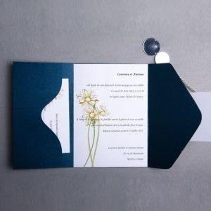 joyeuxmariage faire part mariage poche style bleu avec. Black Bedroom Furniture Sets. Home Design Ideas