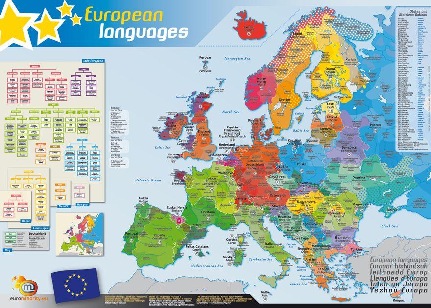 carte europe langues