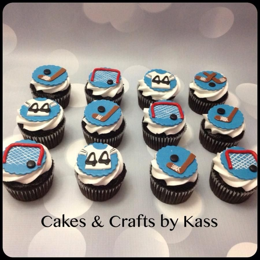 Hockey Cupcake Toppers These were for a very awesome lil girl who