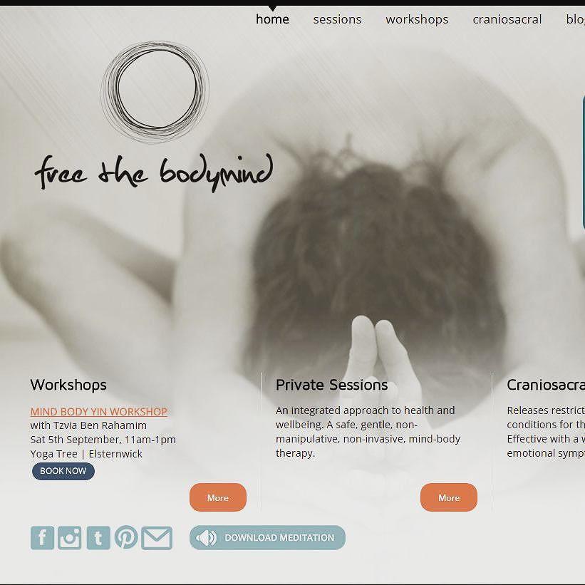 Recent #webdesign project for Melbourne-based client Free the Body mind.  #designinspiration #inspiration #website