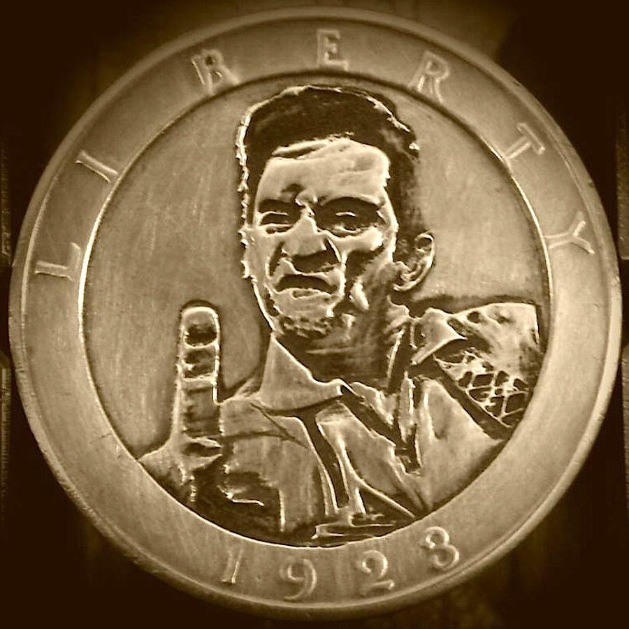 BEN PROCTOR HOBO DOLLAR - JOHNNY CASH - 1923 PEACE DOLLAR